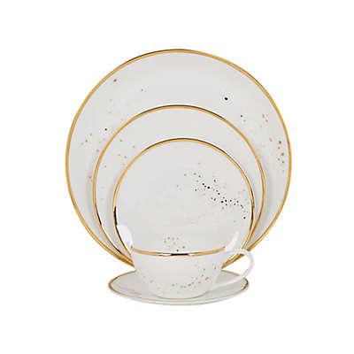 Olivia & Oliver Splatter Organic Shape Gold Dinnerware Collection