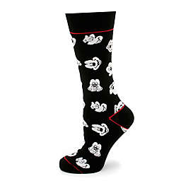 Disney® Mickey Mouse Expressions™ Patterned Socks in Black