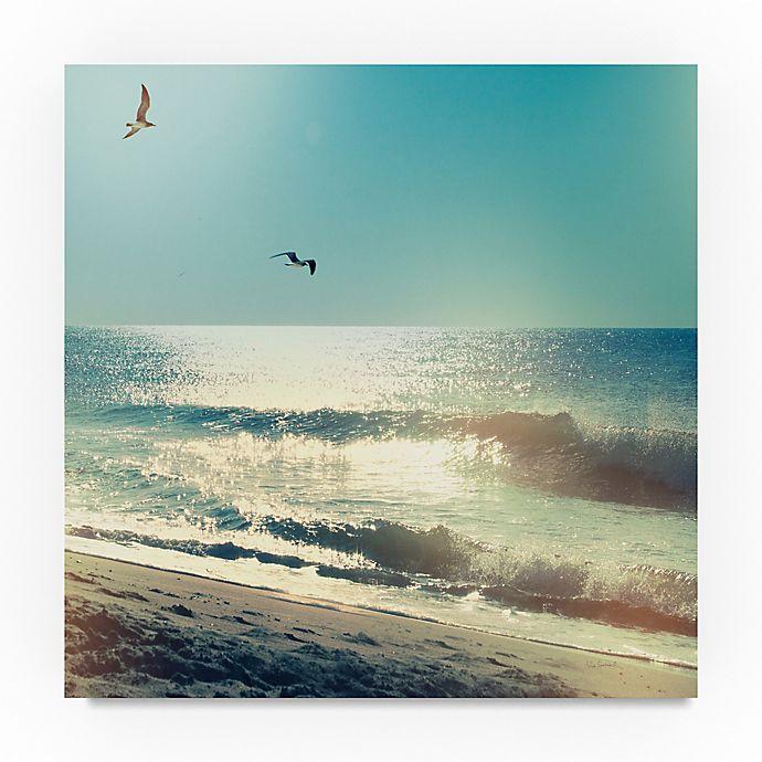 Alternate image 1 for Trademark Fine Art Coastline Waves, No Words 24-Inch Square Canvas Wall Art