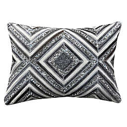 Cloud9 Design Geo Hair-on Hide 14-Inch x 20-Inch Oblong Throw Pillow in Wheat