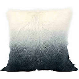Cloud9 Design Ombre Goat Fur 20-Inch Square Throw Pillow in Grey