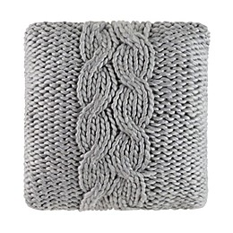Cloud9 Design Chunky Knit 22-Inch Square Throw Pillow in Grey