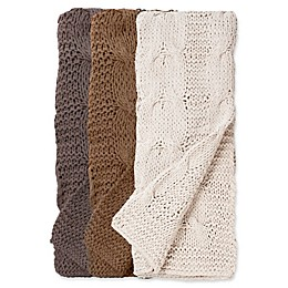 Amity Home Michaela Cable Knit Throw Blanket