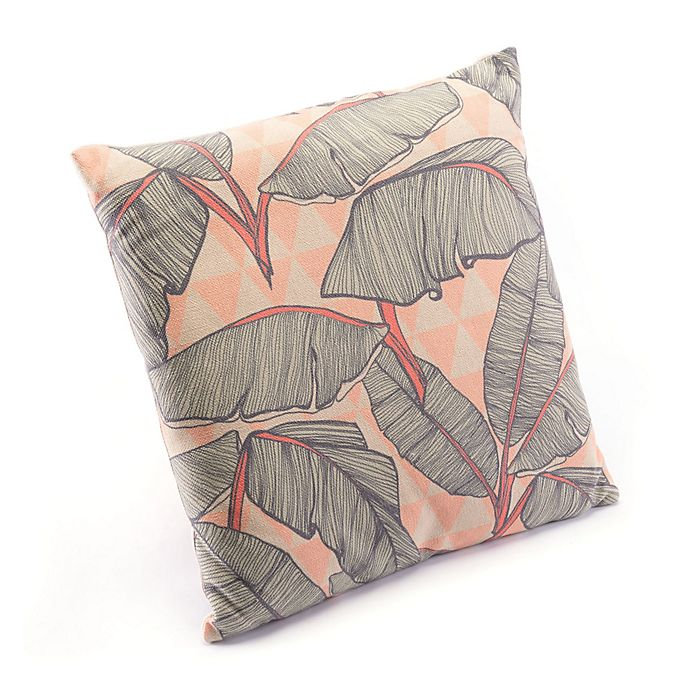 Alternate image 1 for Zuo® Modern Tropical Square Throw Pillow in Pink/Green