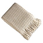 Brielle Winding Wave Throw Blanket in Ivory