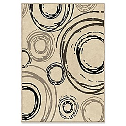 Orian Rugs Nuance Centric Woven Area Rug in Beige