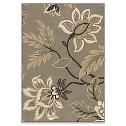 Orian Rugs Nuance Lily Taupe Woven Area Rug in Grey