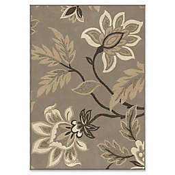 Orian Rugs Nuance Lily Taupe Woven 7'10 x 10'10 Area Rug in Grey