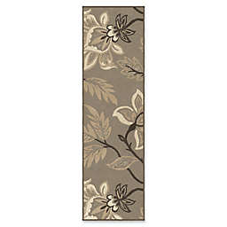 Orian Rugs Nuance Lily Taupe Woven 2'3 x 8' Area Rug in Grey