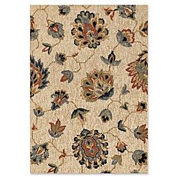 Orian Rugs Next Generation Floral Como Woven Area Rug in Beige