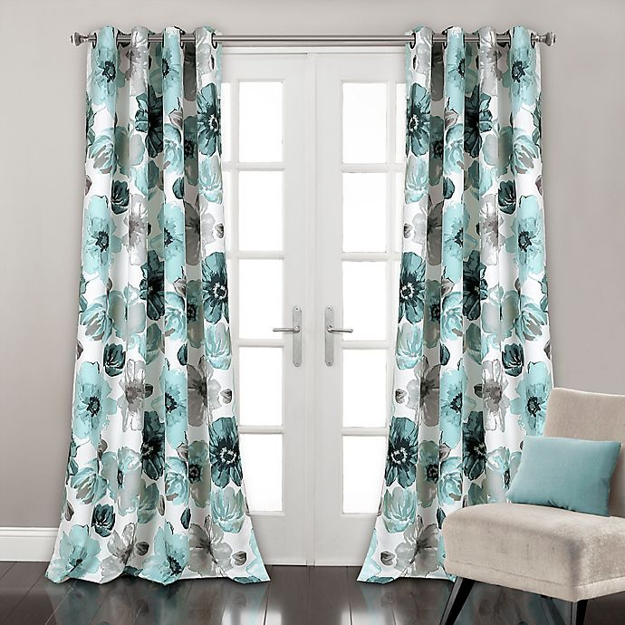 Lush D 233 Cor Leah Grommet Top Room Darkening Window Curtain