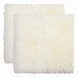 New Zealand Sheepskin Chair Pads in Natural (Set of 2 )