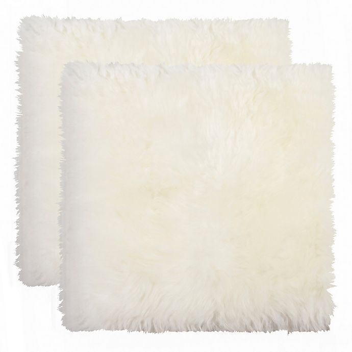 Alternate image 1 for New Zealand Sheepskin Chair Pads in Natural (Set of 2 )