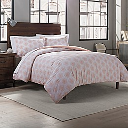 Garment Washed Printed 2-Piece Reversible Twin/Twin XL Comforter Set