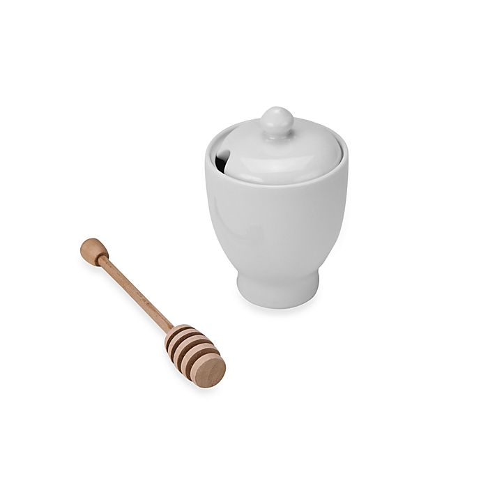 Alternate image 1 for BIA Cordon Bleu Honey Pot with Wooden Dipper