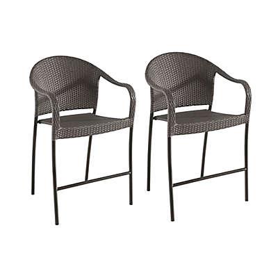 Barrington Stacking Wicker Balcony/Bar Chairs (Set of 2)