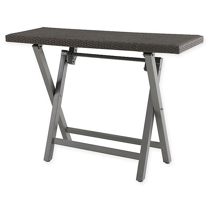 Super Barrington Outdoor Wicker Folding Buffet Patio Table Bed Cjindustries Chair Design For Home Cjindustriesco
