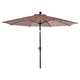 Market 9-Foot Round Umbrella in Jacobean Red