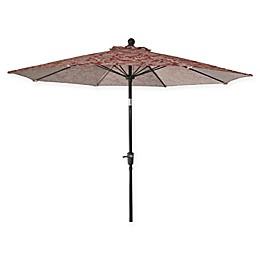 Market 9-Foot Round Umbrella in Jacobean Red