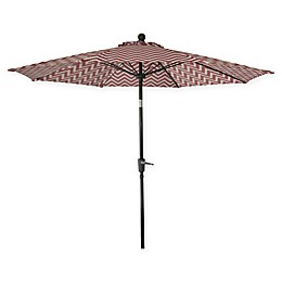 Market 9-Foot Round Umbrella in Red/White