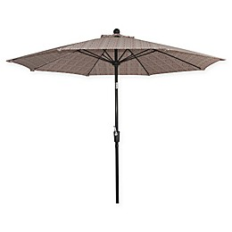 Market 9-Foot Round Umbrella in Red Blockprint