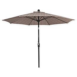 Market 9-Foot Round Umbrella in Red Blockprint