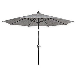 Market 9-Foot Round Umbrella in Blue Block