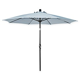 Market 9-Foot Round Umbrella in Pale Blue