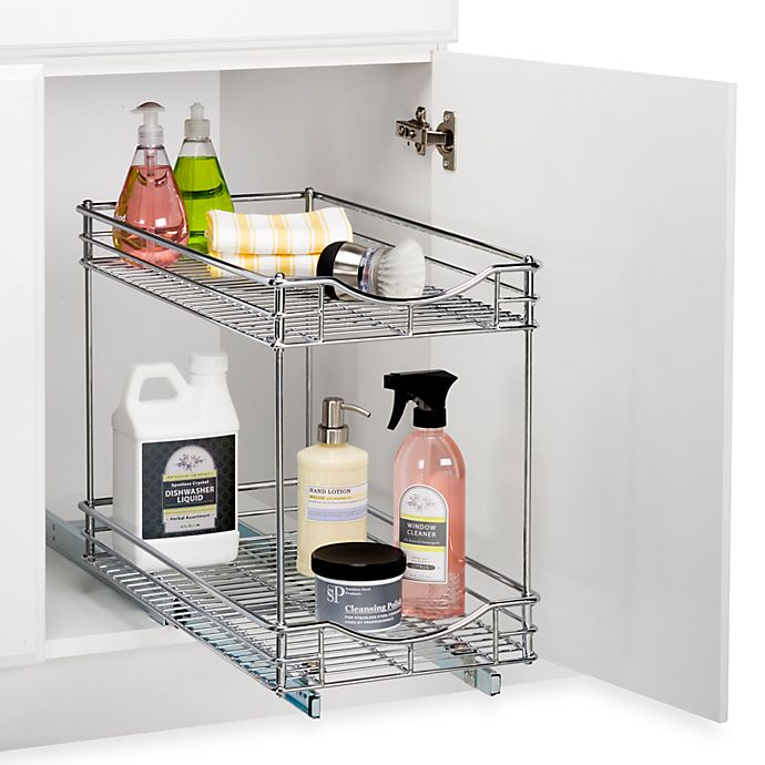Lynk Roll Out Double Shelf: Lynk Roll-Out Under-Sink Double Drawers