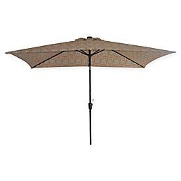 Destination Summer 11-Foot Rectangle Aluminum Solar Umbrella