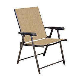Never Rust Aluminum Folding Sling Chairs (Set of 2)
