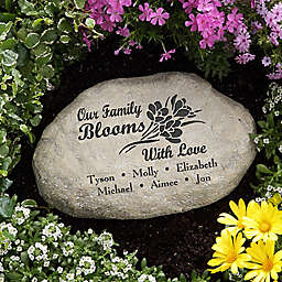 Family Blooms With Love Garden Stone