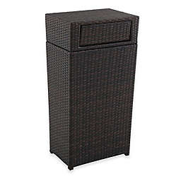 Barrington Wicker Trash Can in Brown