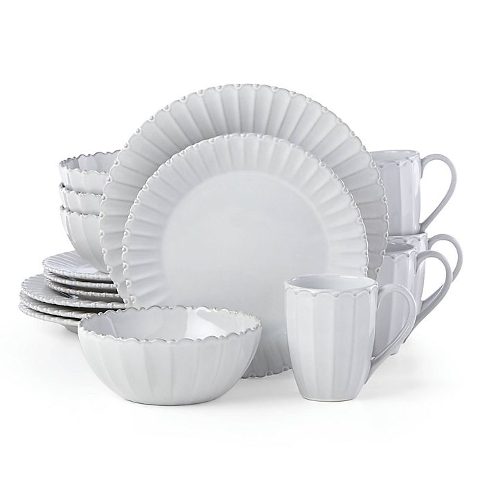 Alternate image 1 for Lenox® French Carved™ Bead 16-Piece Dinnerware Set