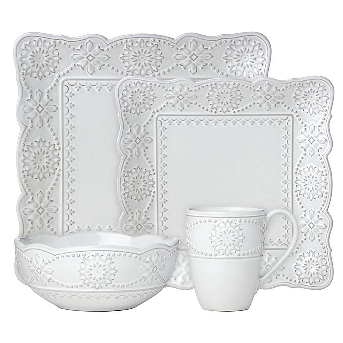 Alternate image 1 for Lenox® French Carved™ Square Dinnerware Collection