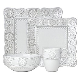 Lenox® French Carved™ Square 4-Piece Place Setting