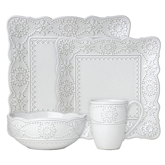 Alternate image 1 for Lenox® French Carved™ Square 4-Piece Place Setting