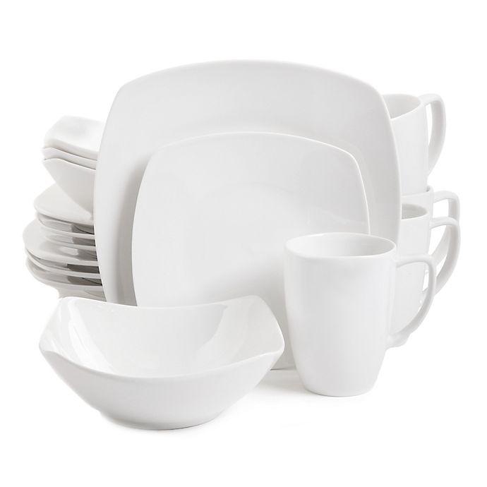 Alternate image 1 for Gibson Elite Zen 16-Piece Dinnerware Set in White