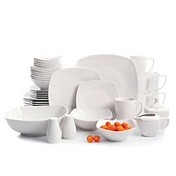 Gibson Elite Zen 39-Piece Dinnerware and Serving Set in White