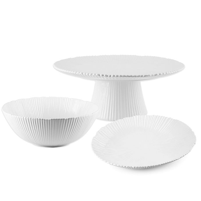 Alternate image 1 for Home Essentials & Beyond Ribbed Serving Collection