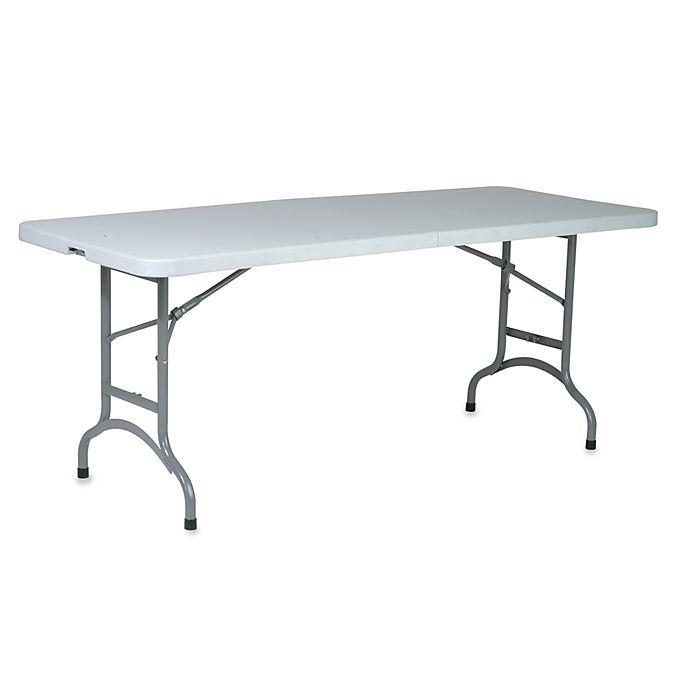 Multi Purpose Center Fold 6 Foot Resin Table