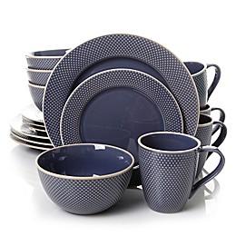 Gibson Lilith 16-Piece Dinnerware Set in Blue