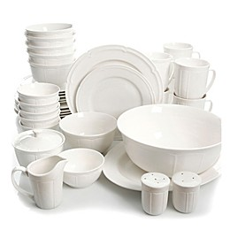 Gibson Paton 37-Piece Dinnerware Set in White
