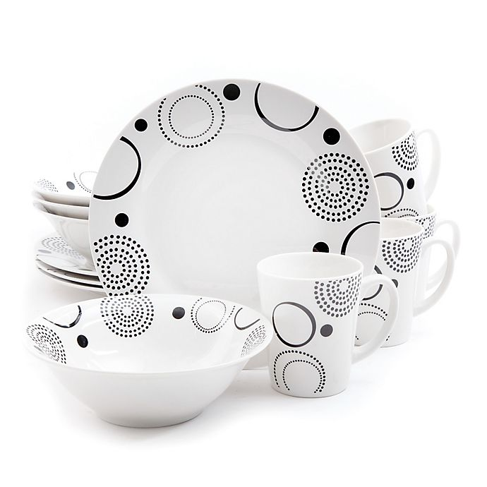 Alternate image 1 for Gibson Modern Times 12-Piece Dinnerware Set in White
