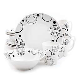 Gibson Modern Times 12-Piece Dinnerware Set in White