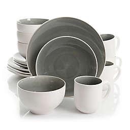 Gibson Serenity 16-Piece Dinnerware Set in Grey