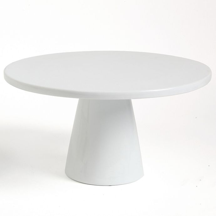 Alternate image 1 for Gibson Gracious Dining Cake Stand in White