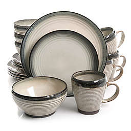 Gibson Forest Lake 16-Piece Dinnerware Set in Taupe