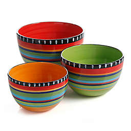Gibson Pueblo Springs 3-Piece Bowl Set