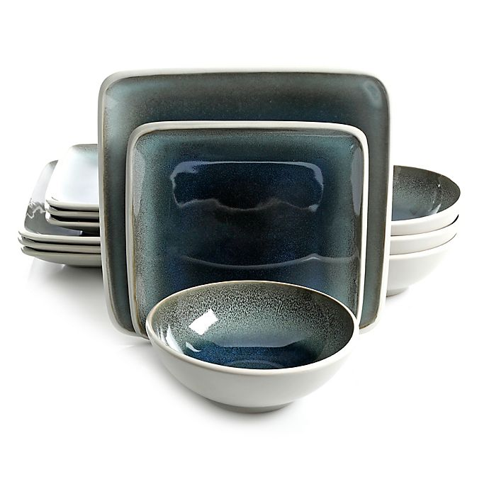Alternate image 1 for Gibson Namastay 12-Piece Dinnerware Set in Blue